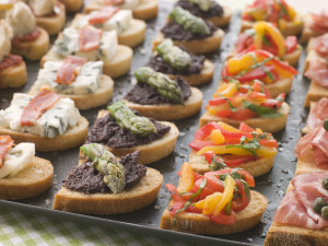 Marie. Hapjes, selection of crostini